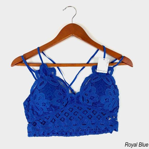 Blue Crochet Bralette